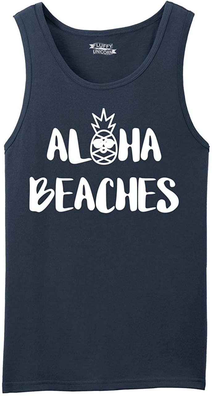 Comical Shirt Men's Aloha Beaches Tank Top