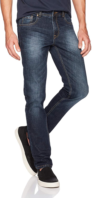 Comfort Denim Outfitters Men's Skinny Fit Jeans 31Wx32L Blue Black