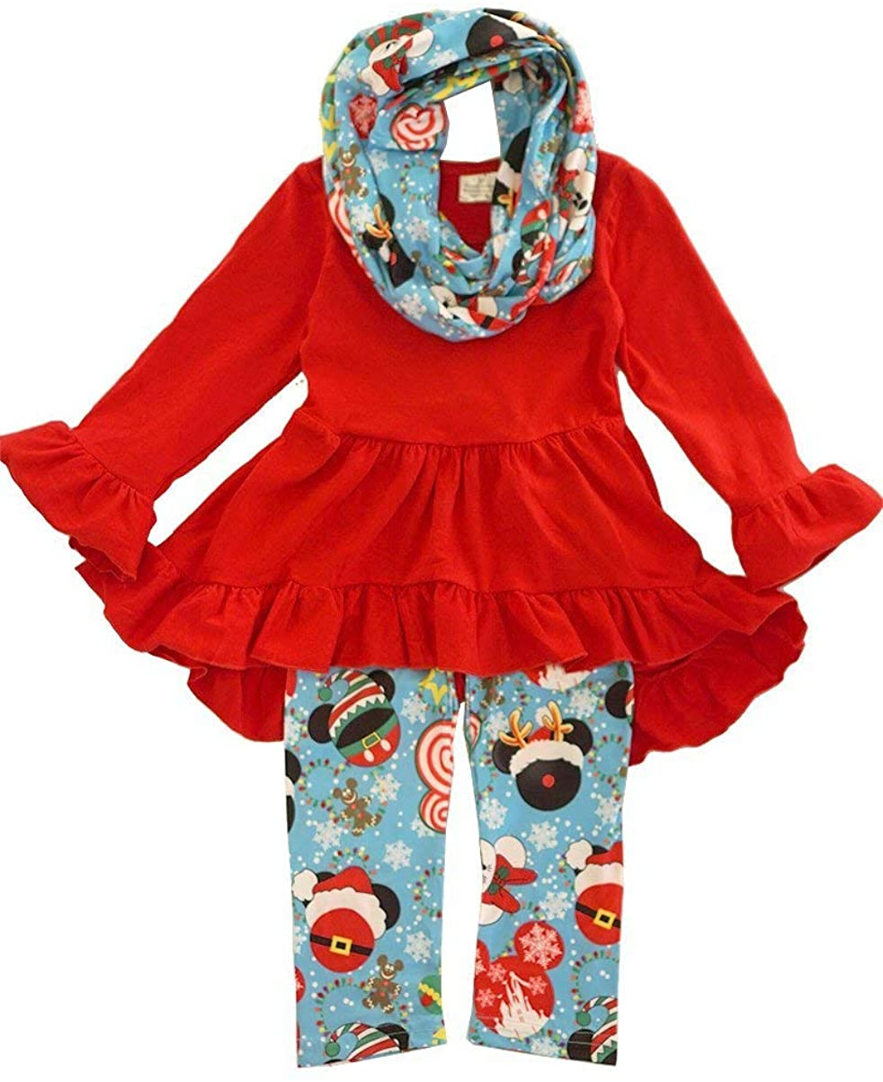 Disney Christmas Infinity Scarf Outfit Set