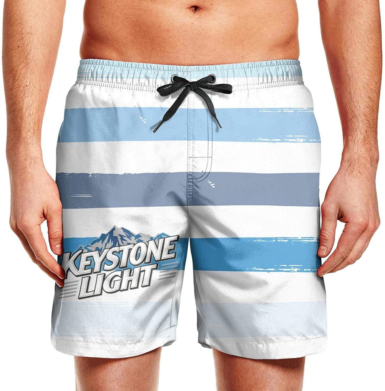 Ruslin Keystone- Men's Trunk Summer Soft Beach Shorts Swim