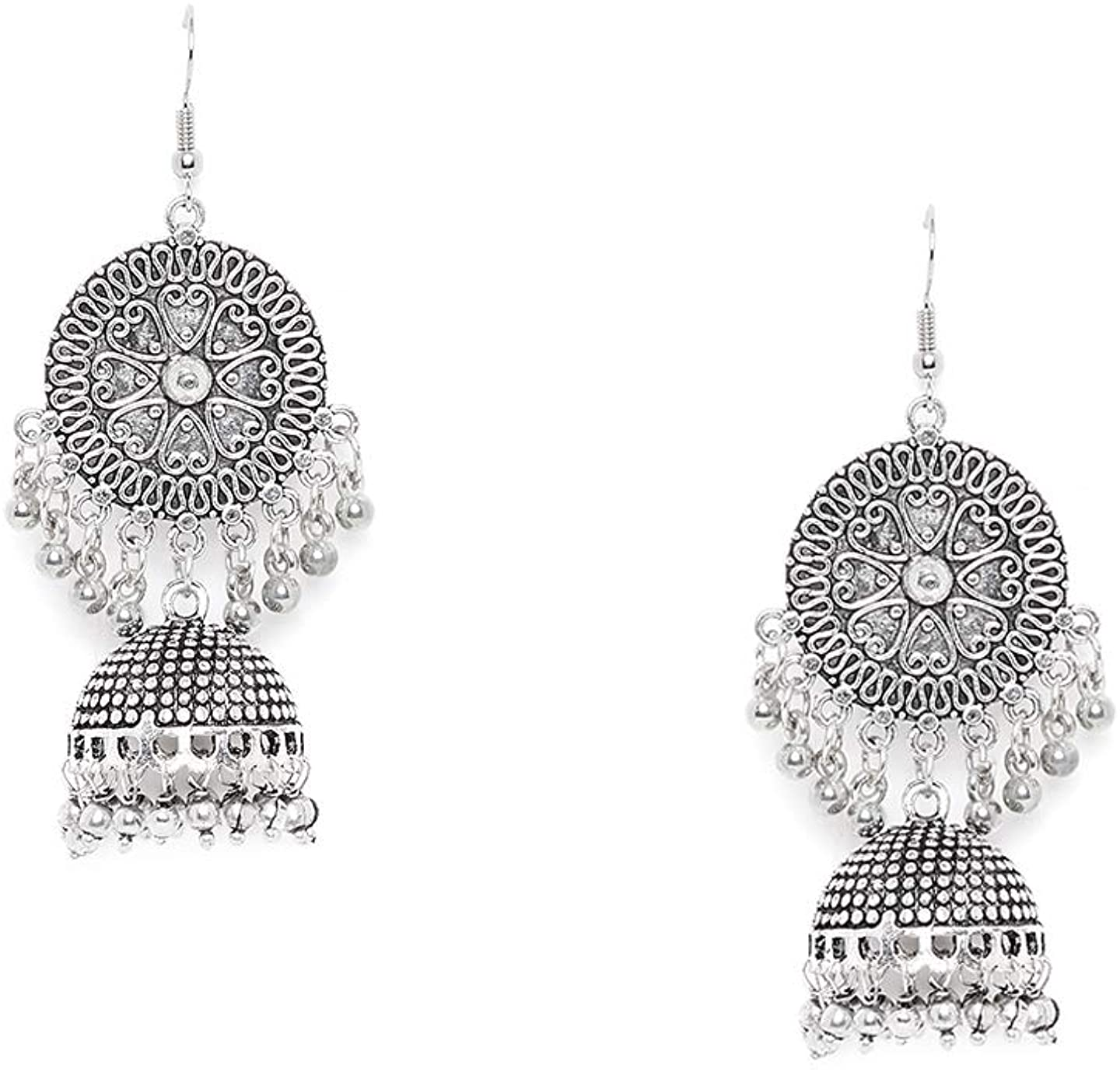 ZeroKaata Fashion Jewellery Hearts And Everything Pretty Embellished Tribal Jewellery Jhumki Earrings For Women & Girls