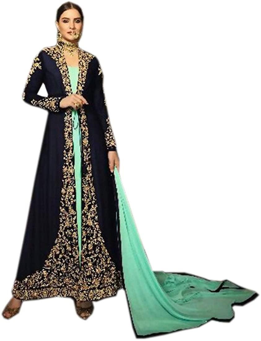 Ready to wear Faux Georgette Indian Bollywood Custom Made Salwar Kameez Women Party Suit 9694