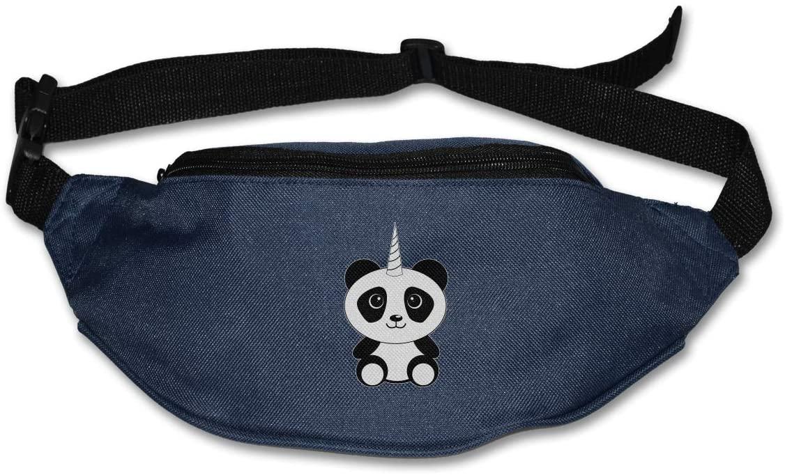 SWEET-YZ Unisex Waist Pack Unicorn Panda Flat Fanny Bag Pack for Sport Running