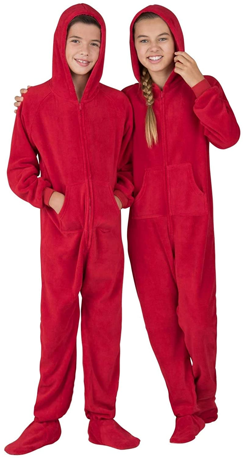 Footed Pajamas - Kids Chenille Onesies   One-Piece Pajama Jumpsuits for Boys and Girls Pjs   Unisex