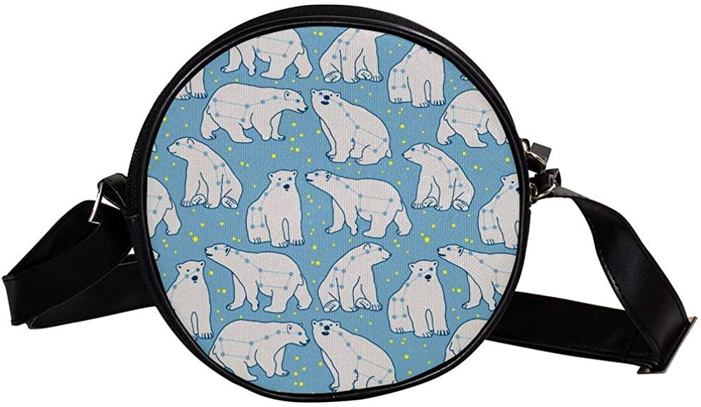 Coin Purse For Kids White Polar Bear Mini Crossbody Bag Girls Wallet