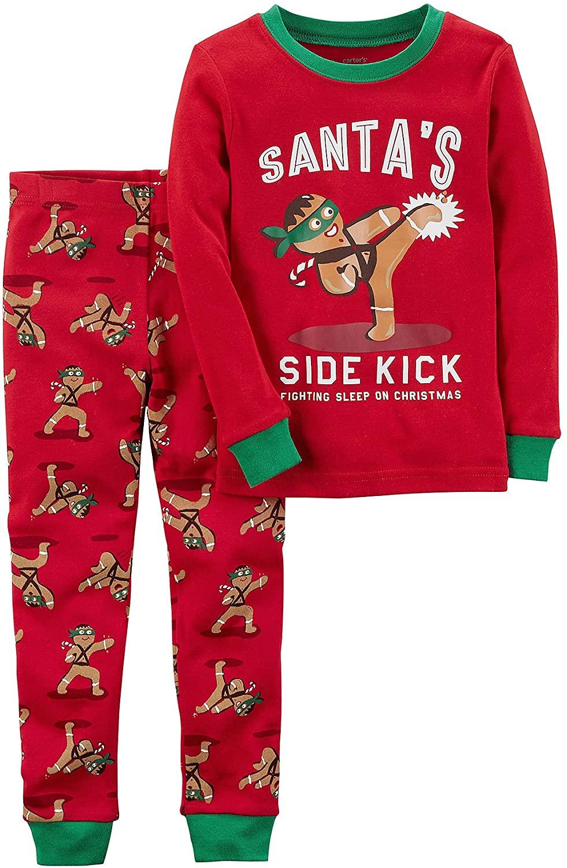 Carter's Baby Boys' 12M-4T 2 Piece Gingerbread Snug Fit Cotton Pajamas 12 Months