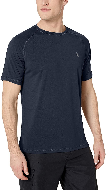 Spyder Men's Hydro Stretch Swim T-Shirt - Quick Dry Short Sleeve Rash Guard Tee