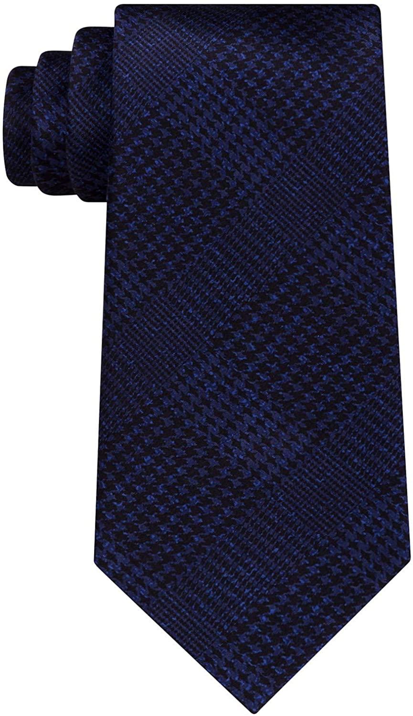 Michael Kors Mens Plaid Self-Tied Necktie