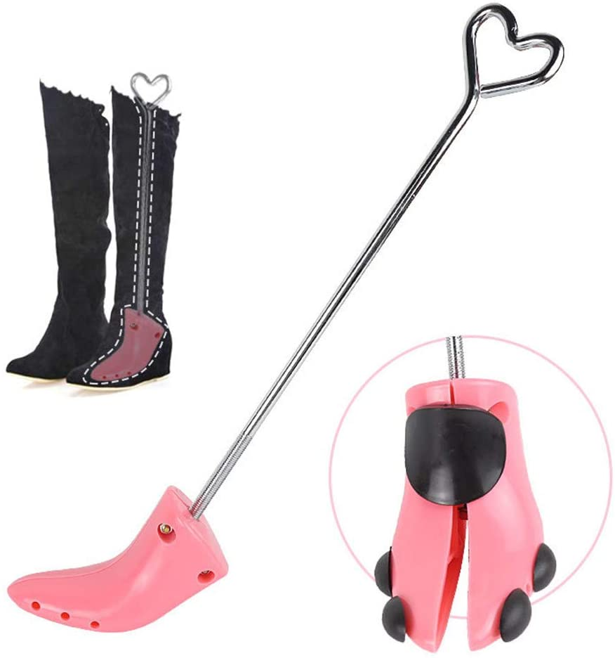 1 Pair Boot Stretcher, Adjustable Width Womens Shoe Stretcher, with Boot Shaper Stands Professional One Way Shoe Stretcher