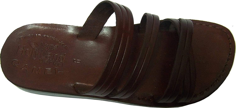 Holy Land Market Unisex Adults/Children Genuine Leather Biblical Flip Flops (Jesus - Yashua) Bethlehem Style II
