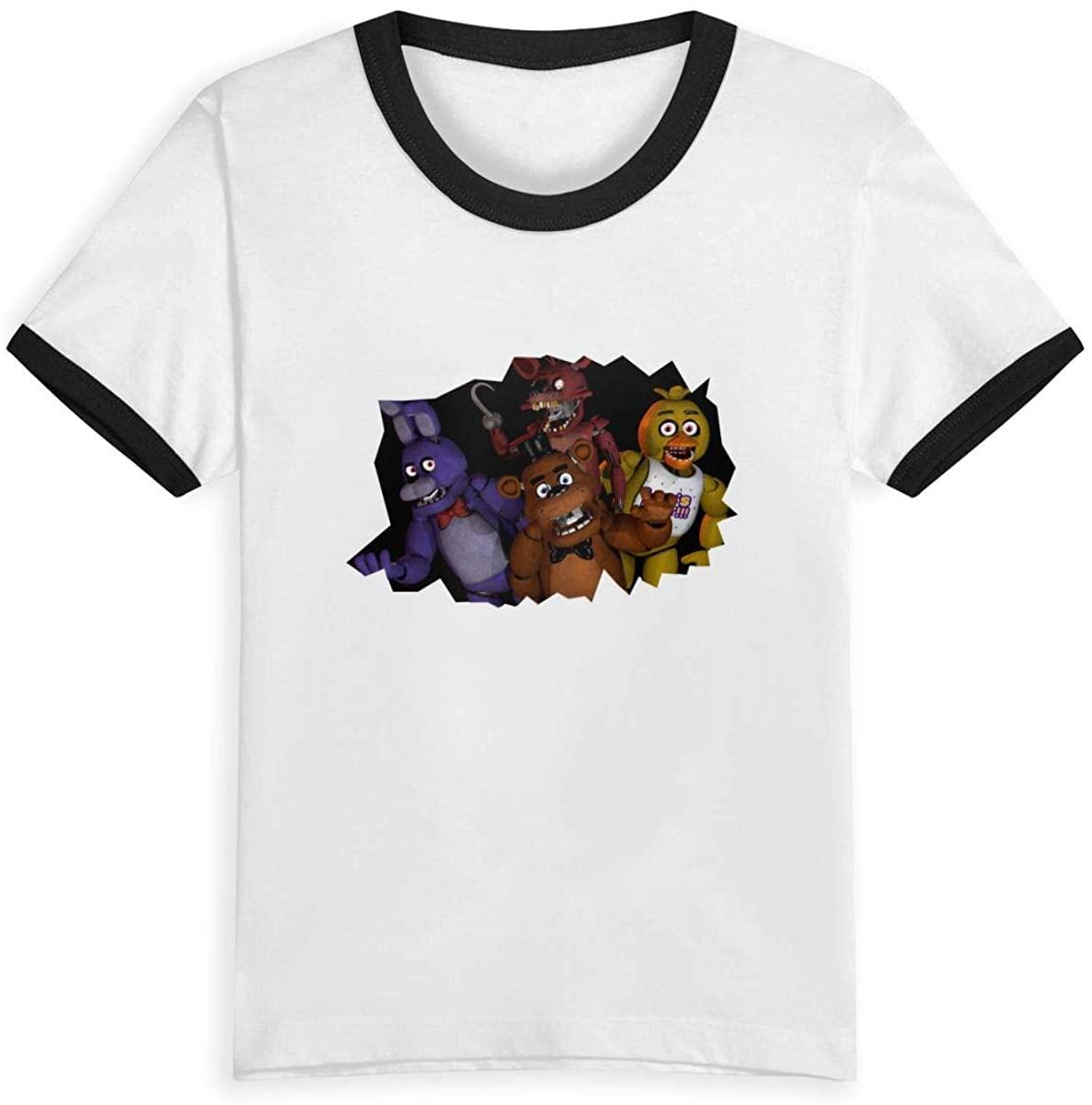 Five Nights at Freddy's Children's Cotton Cartoon Short Sleeve Cute Contrast T-Shirt