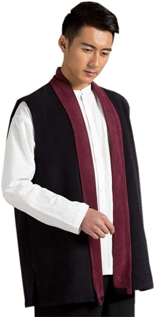 ZanYing Men Winter Vest Menditation Monk Outfit