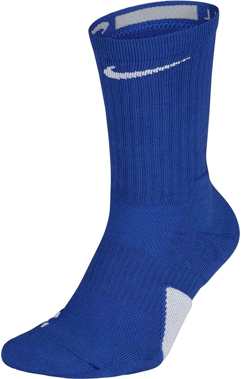 Nike Elite Basketball Crew Socks Game Royal/White Size Large