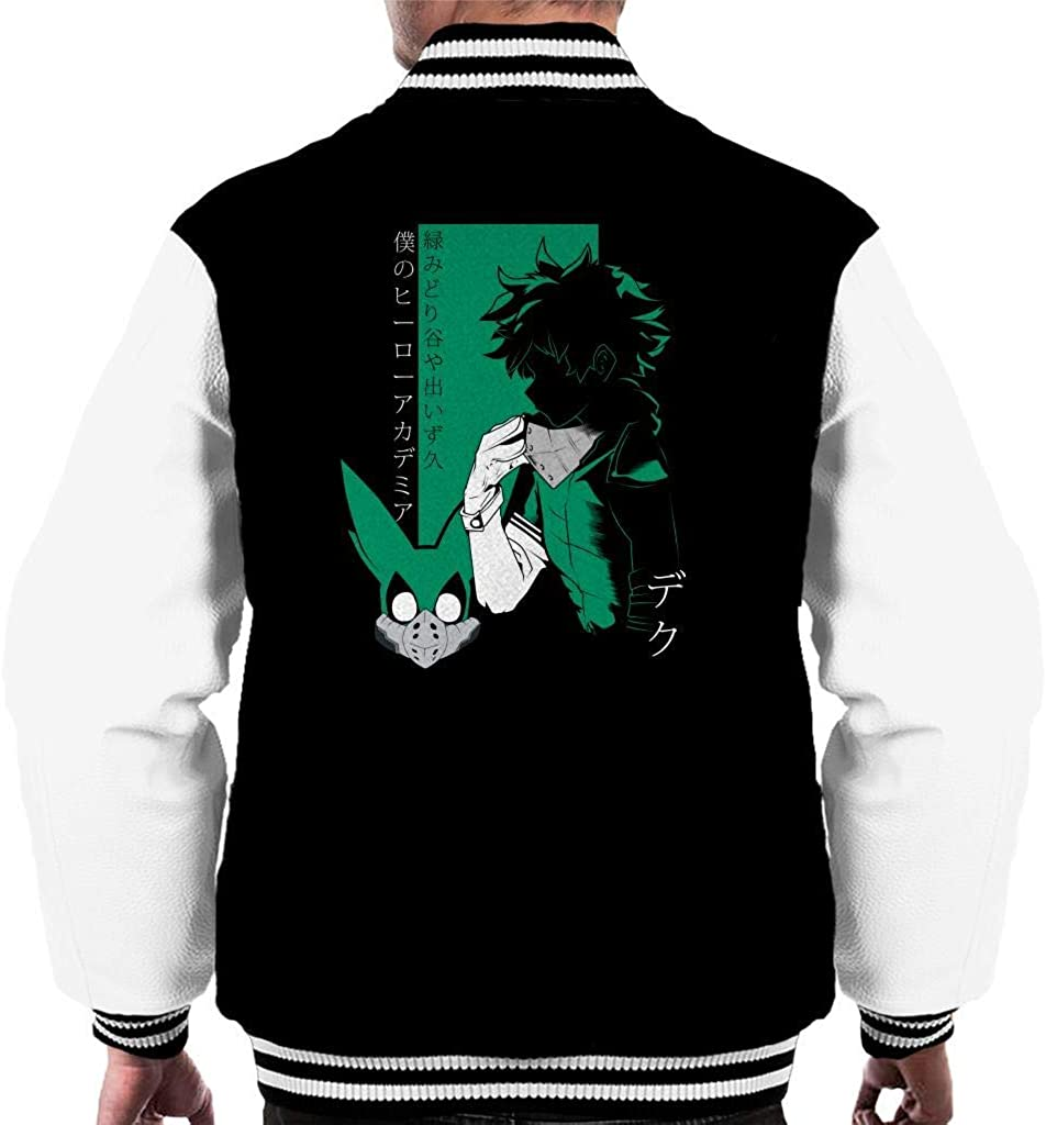 NBUQSG My Hero Academia Deku Profile Mens Varsity Jacket