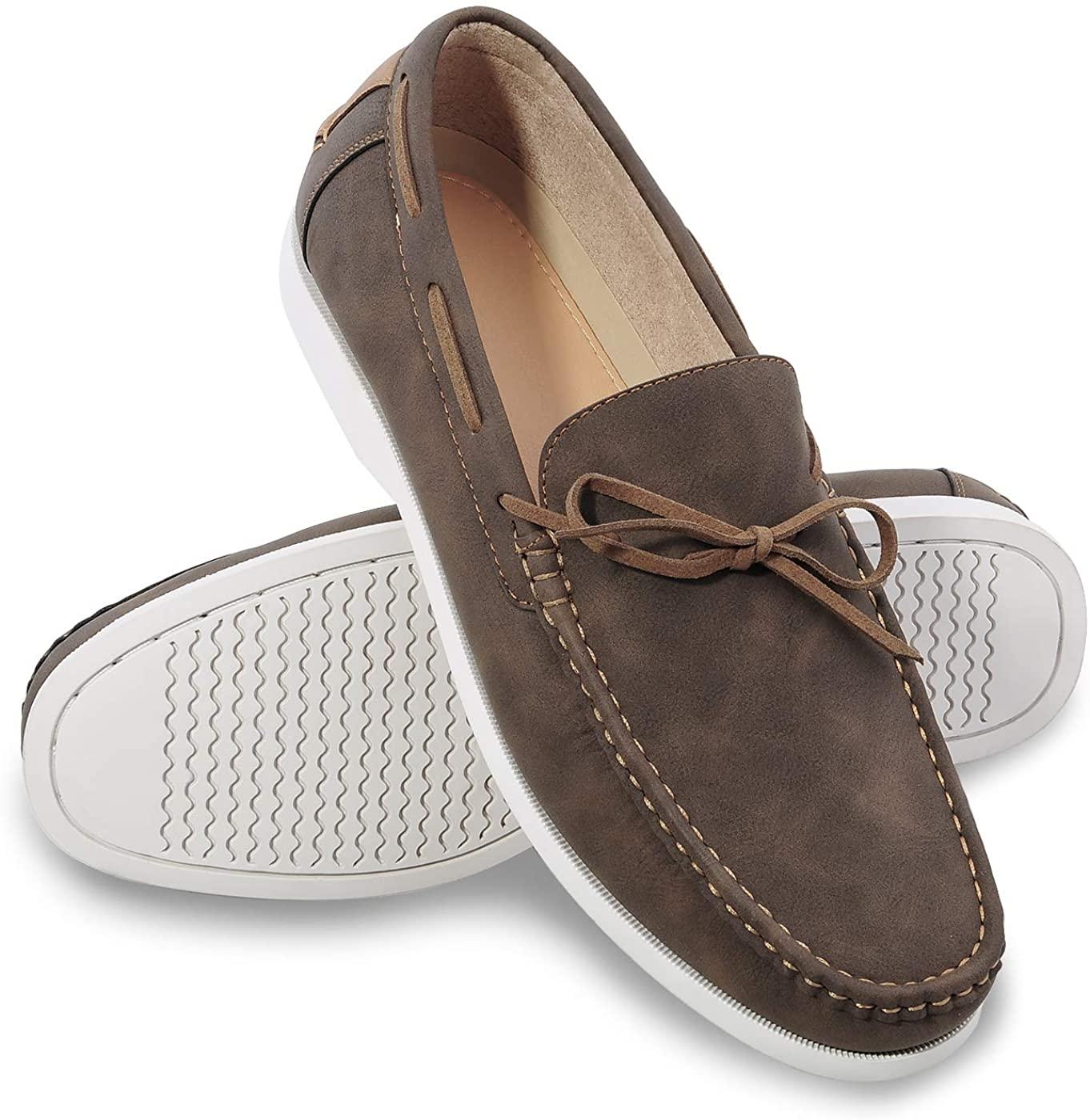 festooning Casual Loafers for Men, Men's Slip-on Shoes, Man Driving Walking Work Flats Indoors Outdoors Summer