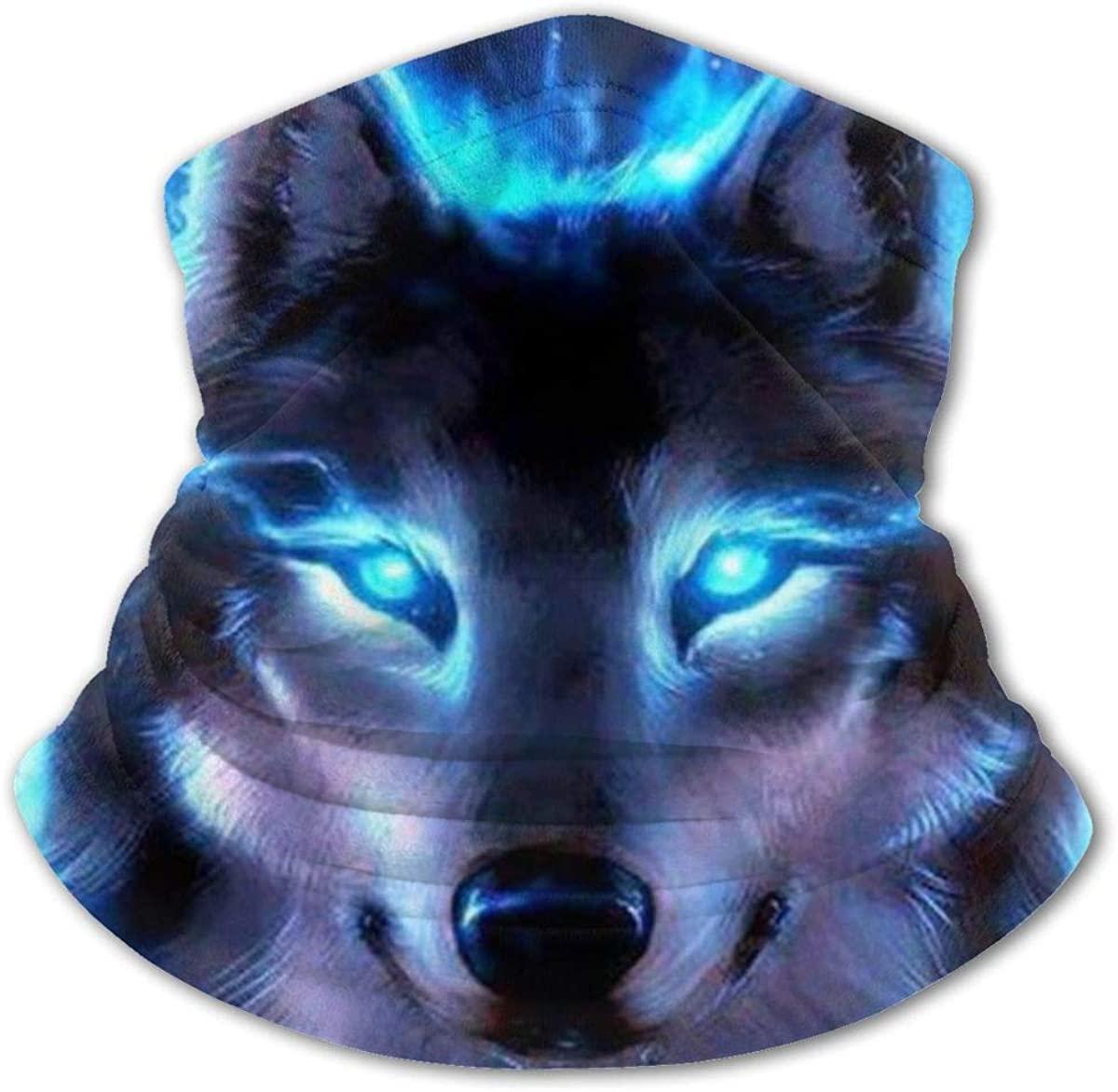 Fluorescence Wolf Headwear For Girls And Boys, Head Wrap, Neck Gaiter, Headband, Tenn Fishing Mask, Magic Scarf, Tube Mask, Face Bandana Mask For Camping Running Cycling