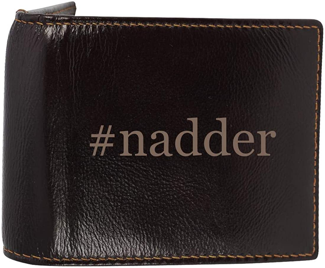 #nadder - Genuine Engraved Hashtag Soft Cowhide Bifold Leather Wallet