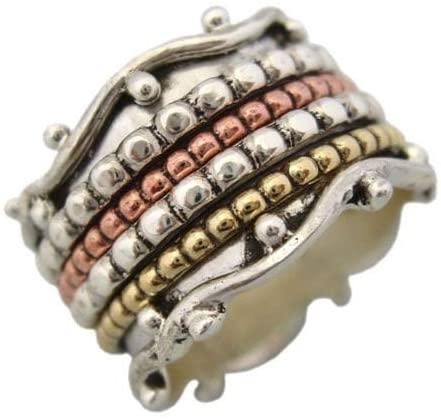 JewelsExporter Sterling Silver Ring.Spinner Ring, Meditation Ring, Spin-Pray Ring6us