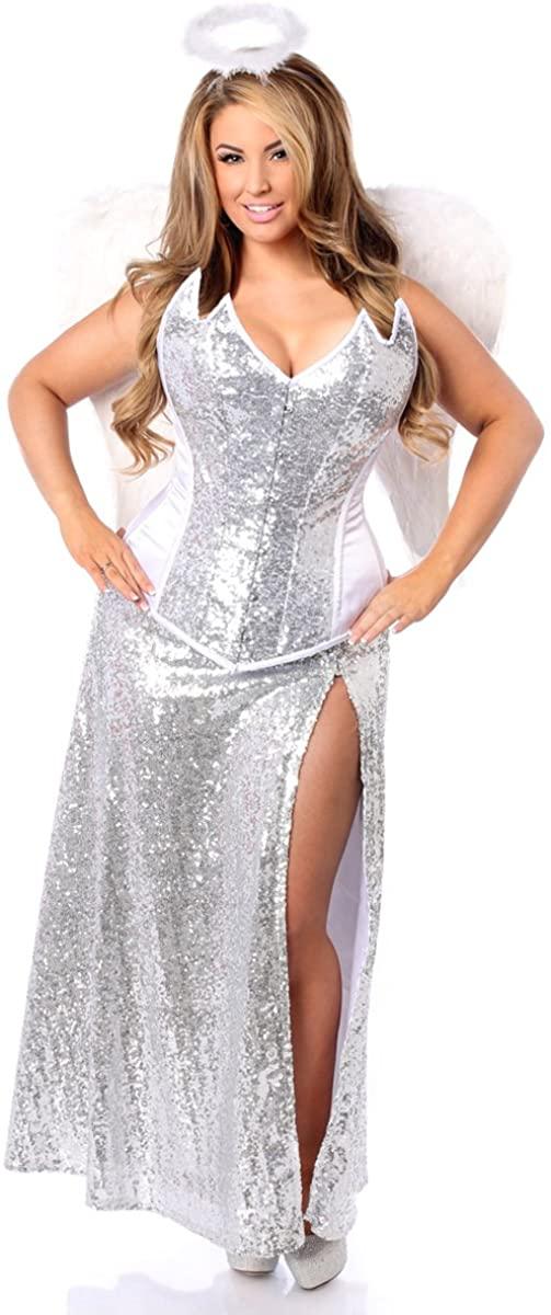 Daisy corsets Top Drawer 4 PC Premium Sequin Angelic Corset Women's Costume
