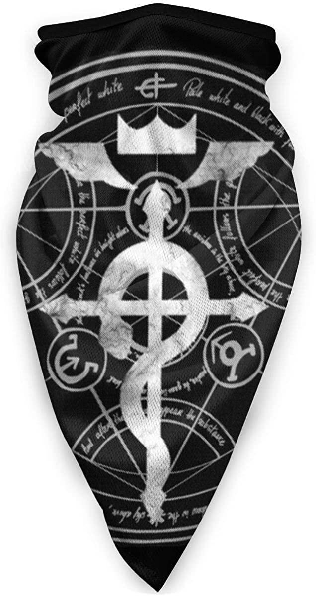 Fullmetal Alchemist Transmutation Circle Face Mask Bandanas For Dust, Outdoors, Festivals, Sports