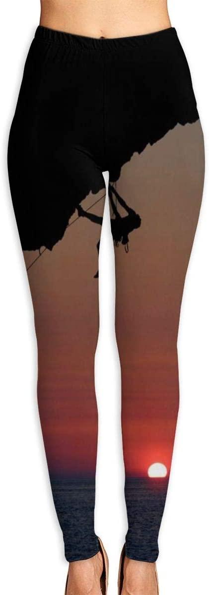 Nzioap0 Women's Soft Lightweight Sunrise Climber Leggings High Waist Yoga Pants Training Leggings