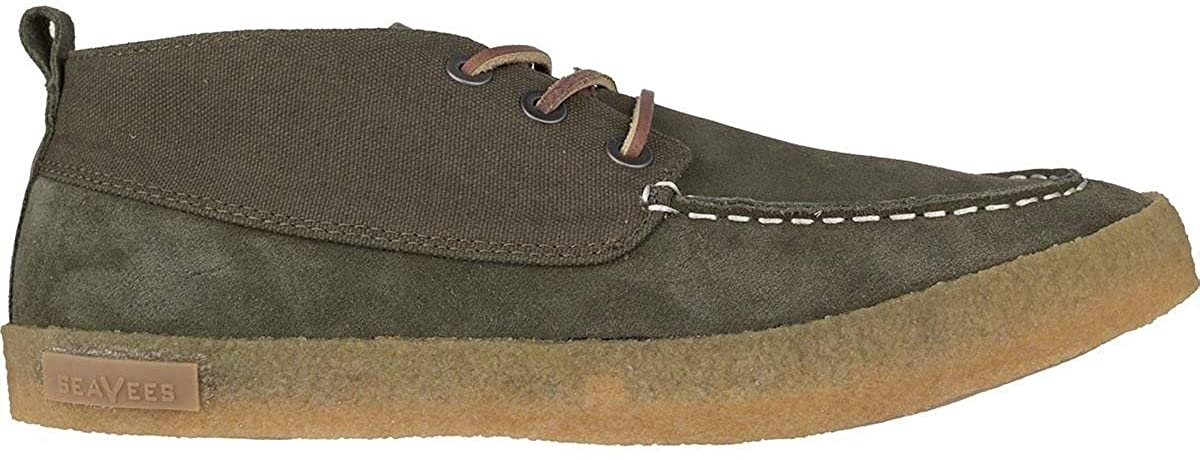 SeaVees Mens Bayside Moc Canvas Low Top Lace Up Fashion Sneakers