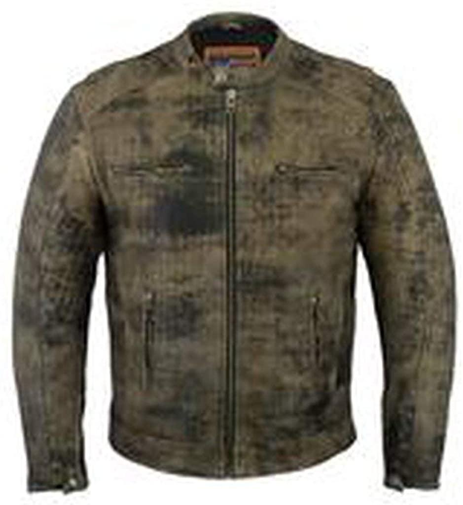 Power Line Records Men's Antique Brown Cruiser Jacket