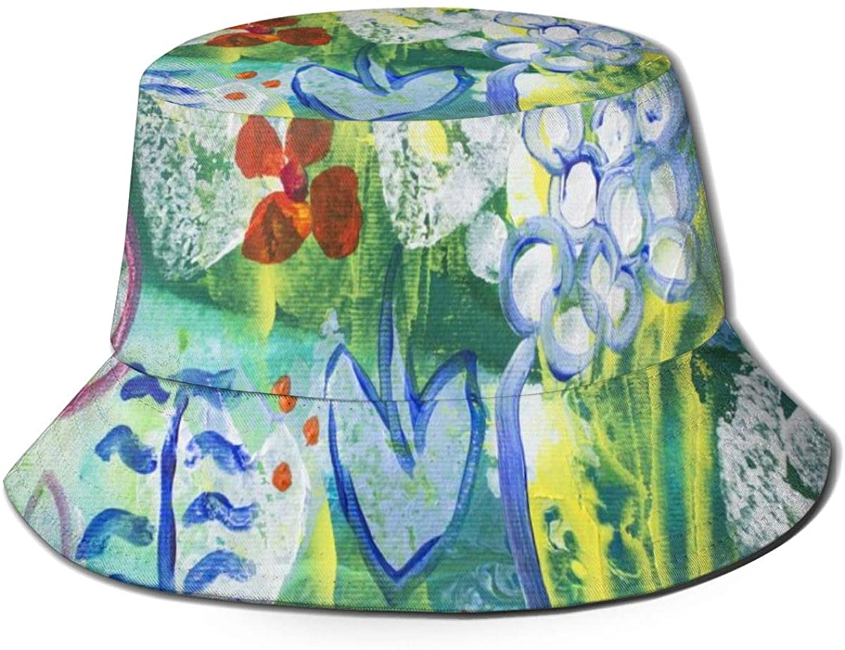 Bucket Hats for Teens Detail of Painting Vector Beach Bucket Hat, Uv Bucket Hat, Foldable Sun Bucket Hat, Fisherman Hat