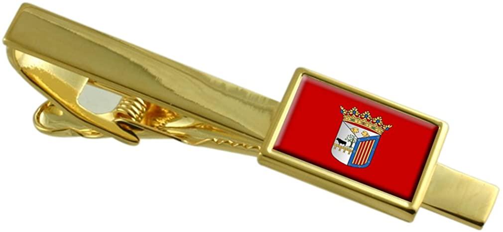 Salamanca City Spain Flag Gold-tone Tie Clip