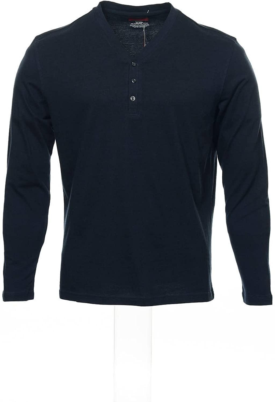 Alfani Red Men's Blue Henley Shirt