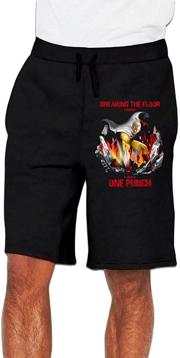 One-Punch Man Men's Shorts Casual Drawstring, Pocket-Elastic Waist