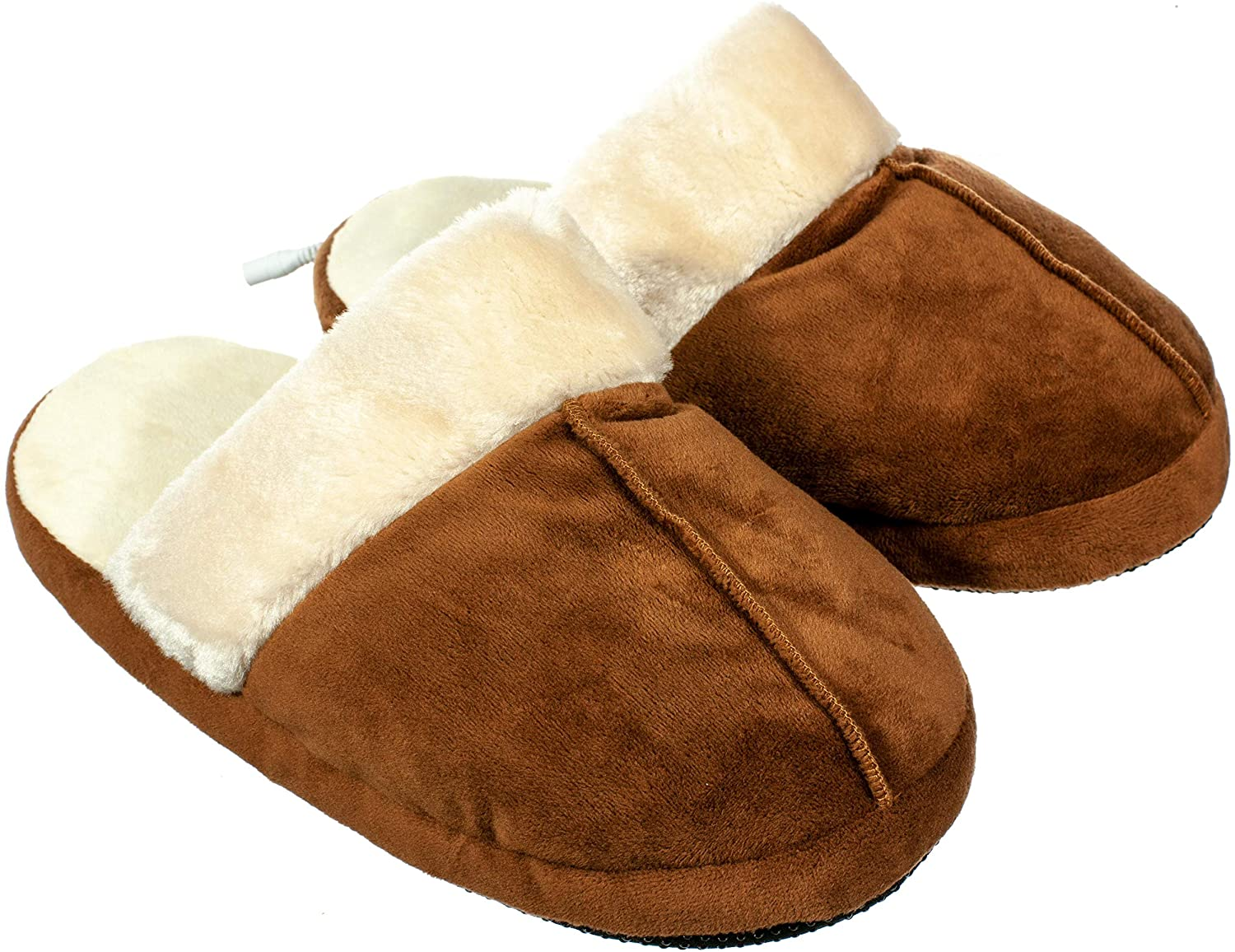 Calming Covers USB Heated Slipper | Built in Foot Warmer pad Heats Your feet to Keep Your tootsies Toasty
