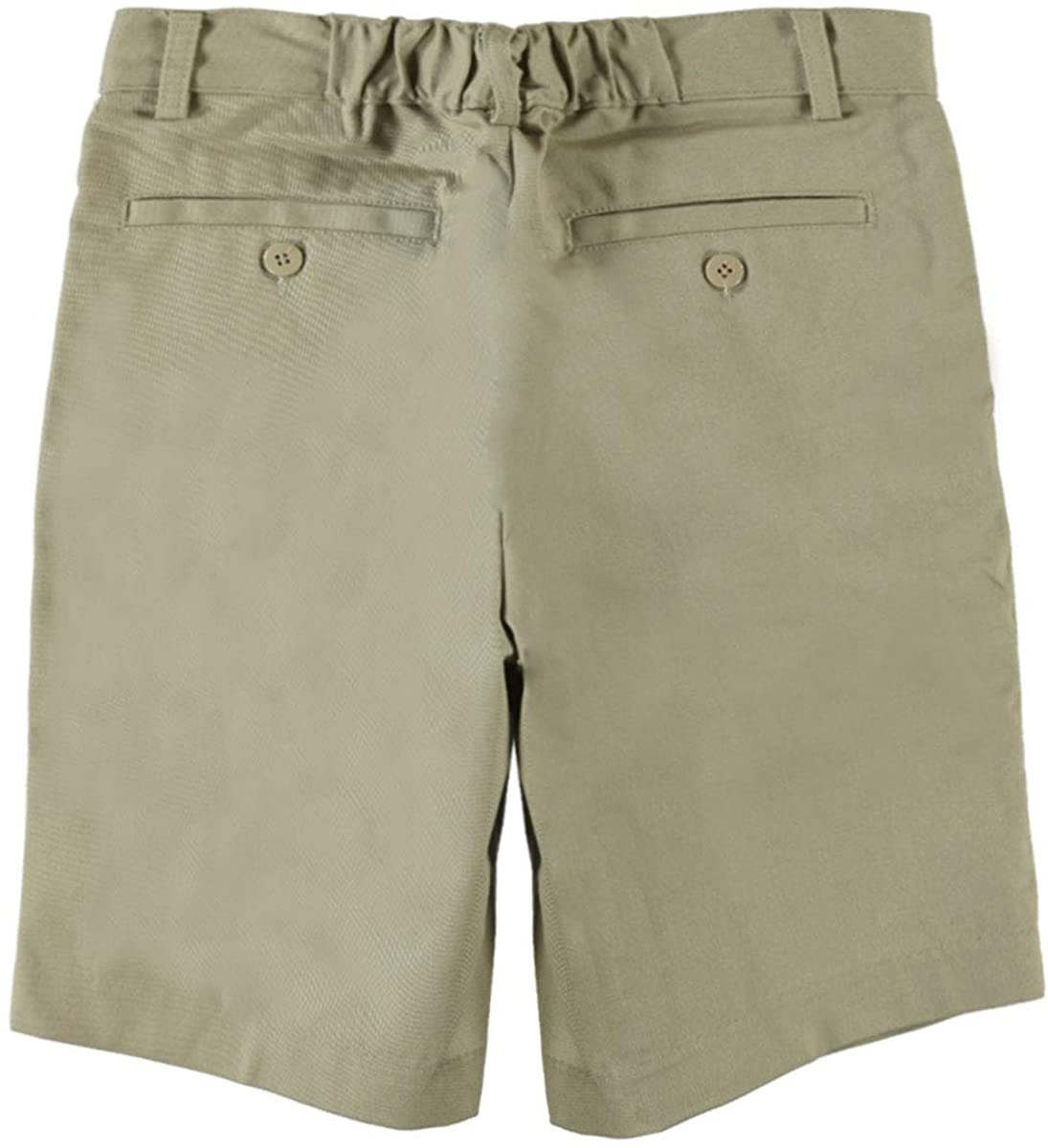 Universal Big Boys' Pleated Front Shorts w/Hook and Eye Closure Schoo- SKU Khaki