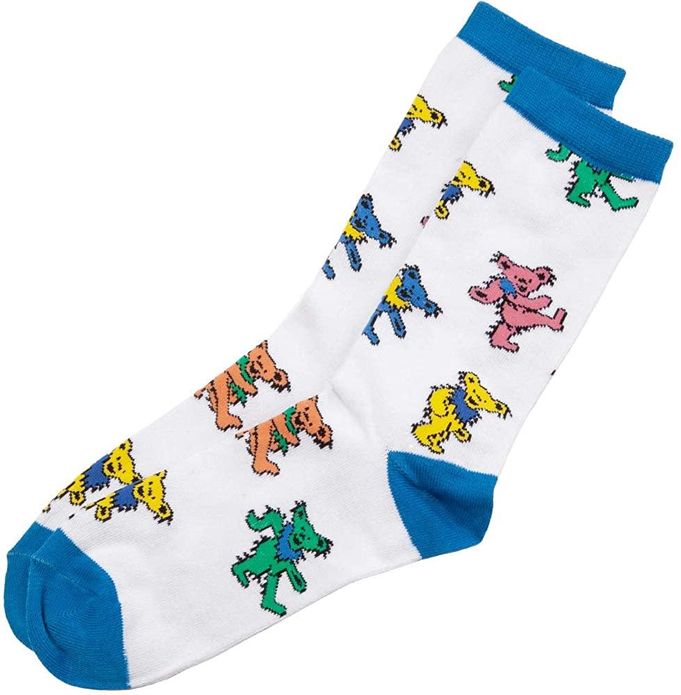 Grateful Dead Bears Tossed Adult Crew Socks (White)