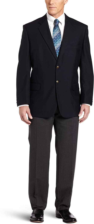 Haggar Men's Big & Tall Two-Button Center-Vent Hopsack Blazer