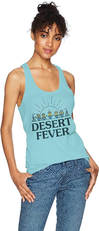 Fifth Sun Women's Minions Desert Fever Graphic Racerback Tank Top
