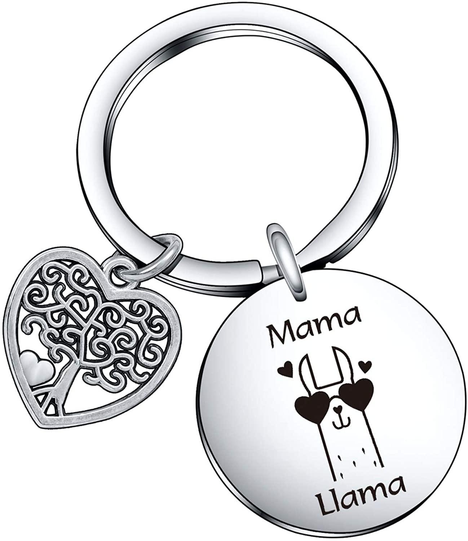 De&ai Mama Llama Charm Keychain, Animal Mama Llama Jewelry for Moms Grands Women Christmas Birthday Gift