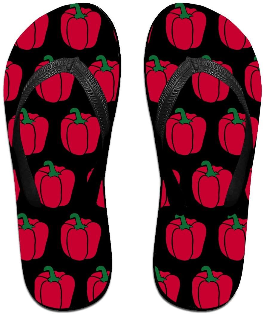 JINYOUR Pepper Unisex Flip Flops Summer Slippers Shoes Beach Sandal