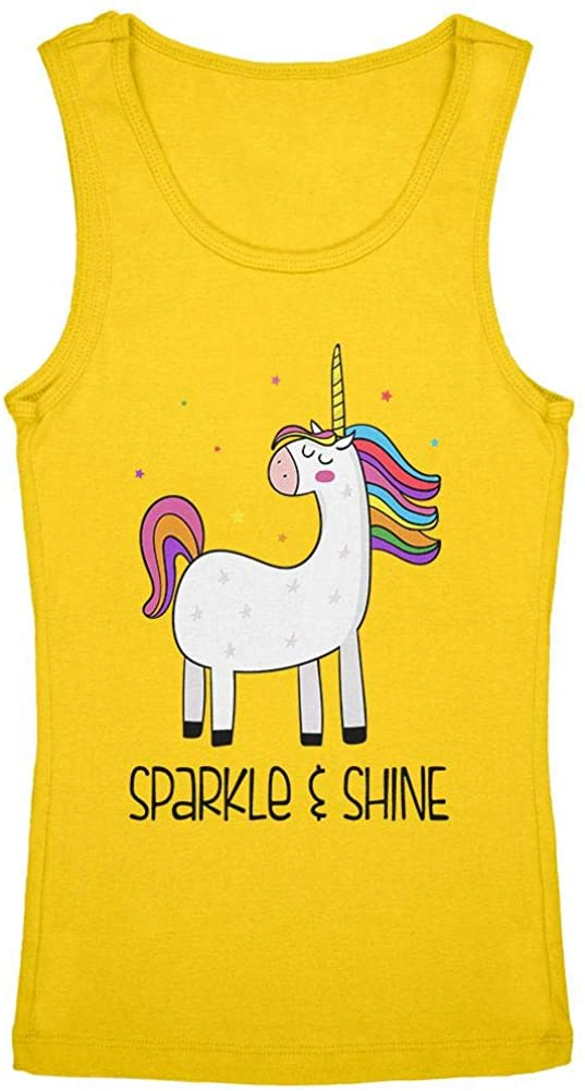 Unicorn Sparkle and Shine Youth Girls Tank Top