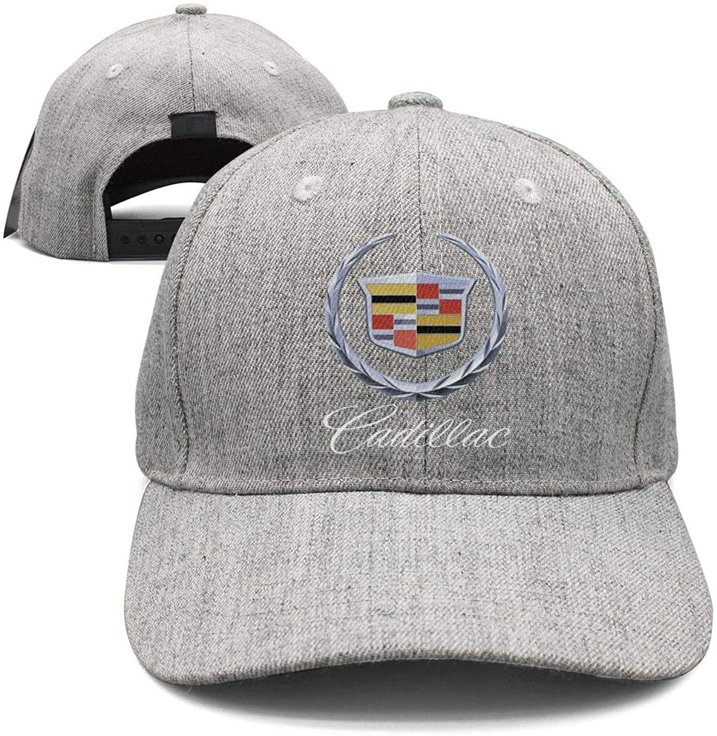 Cadillac-Logo- Unisex Youth Casual Flat-Brimmed Hat Outdoor Rock Cap