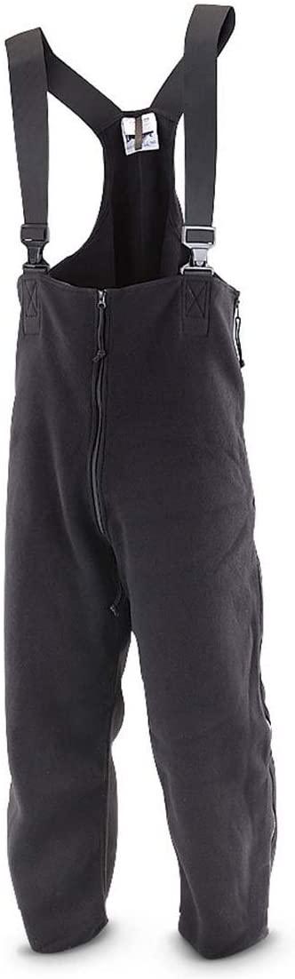 Military Outdoor Clothing Black US Military Polartec Fleece Bib Overalls