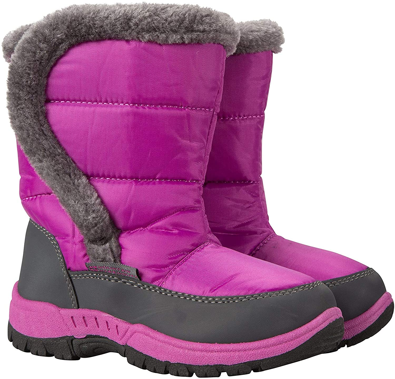 Mountain Warehouse Caribou Kids Snow Boots - Girls & Boys Winter Shoe