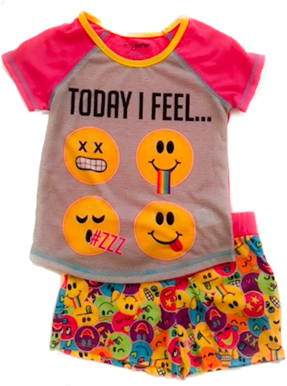 2 Piece Emoji Pajama Set