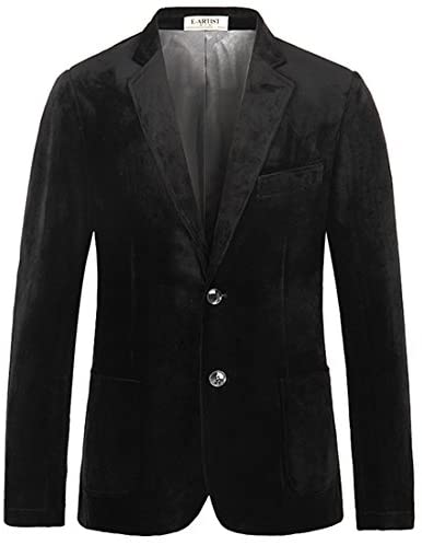 Mens Slim Fit Business Causal Luruxry Velvet Blazer Jackets Suit Coats For Spring Autumn Plus Size 5XL X32