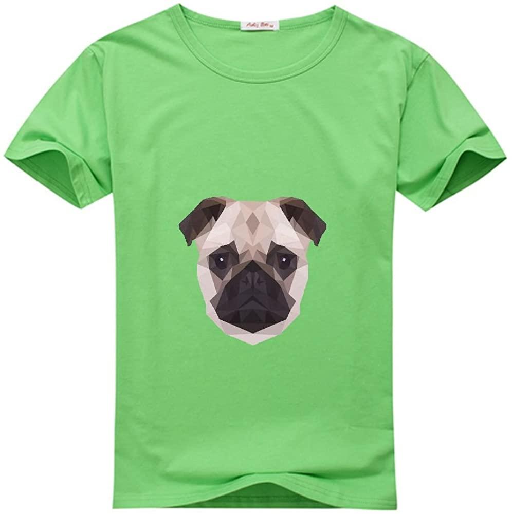 Geometric Pug Girl's Printed t Shirt