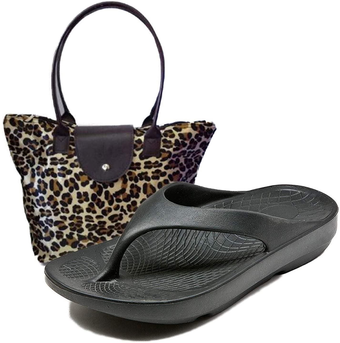 LUXFEET Orthopedic Arch FLIP Flops with Toe Sock OR Tote Bag OR Charms