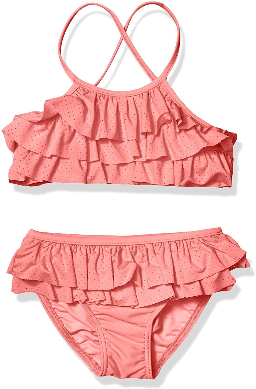 Seafolly Girls' Frill Front Tankini Swimsuit Set