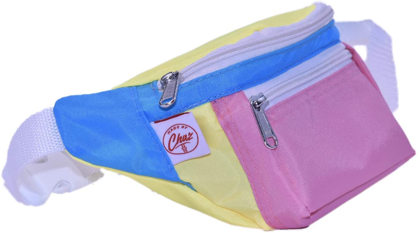 Travel Safe with The 80's Multicolor Fanny Pack for Women with Bonus Credit Card Wallet