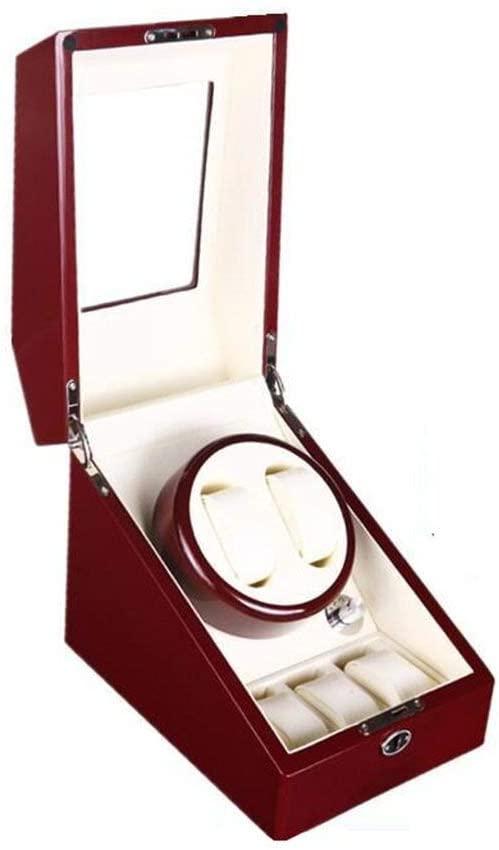 JN Watch Display Storage Box/Watch Box - Mechanical Watch Shaker Watch Automatic Winding Box, Watch Display Box Swaying Table, Jewelry Storage Box/High-end Storage Watch Box (Color : Red)