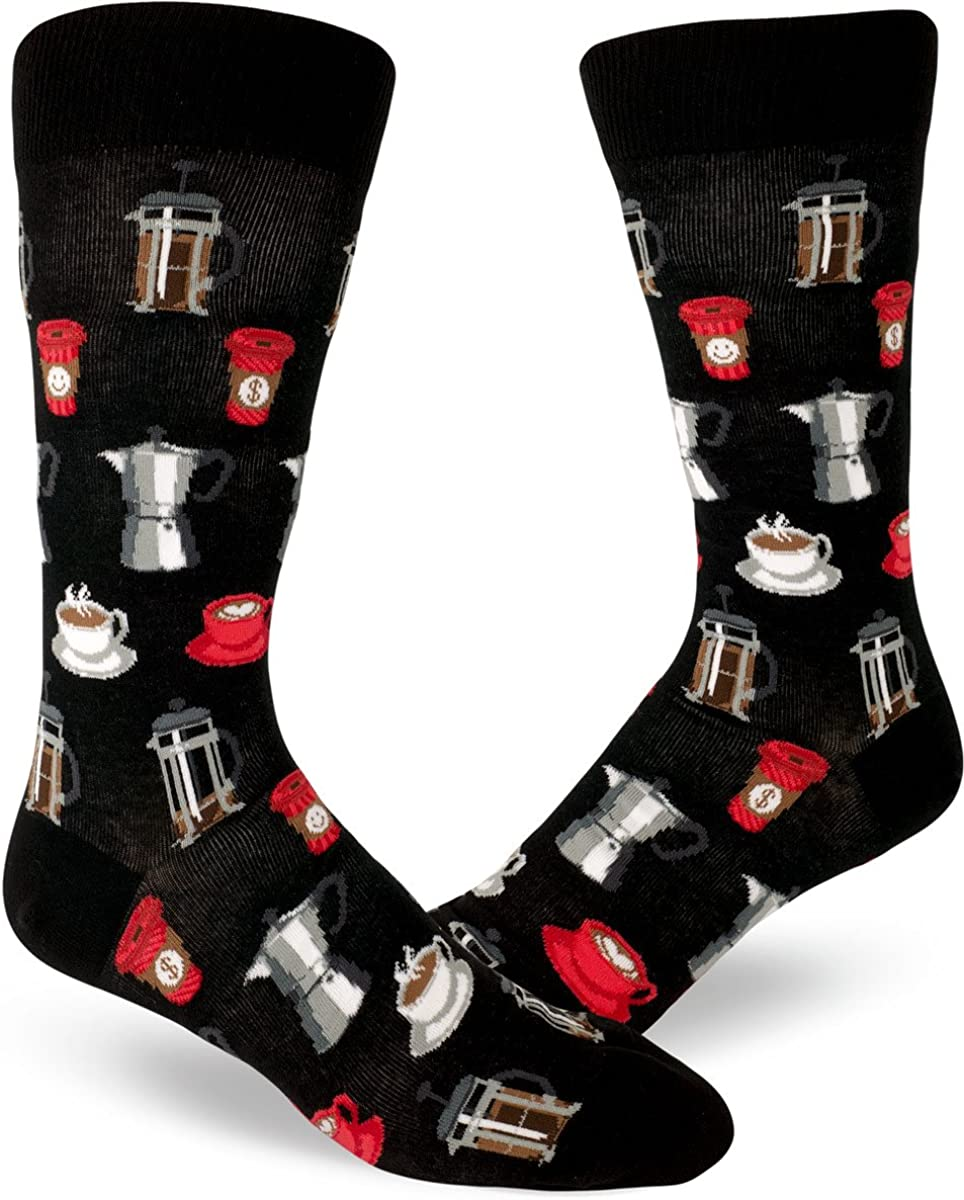 ModSocks Men's Coffee Break Socks in Black (Fits Most Men Shoe Size 8-13)